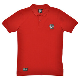 Brick Lane Bikes London Small Badge Polo Shirt Men Red